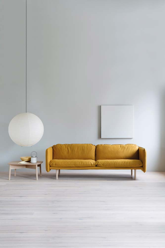 """Linde Sofa and Pall table"", Tonning & Stryn, design by Andreas Engesvik, photo par Inger Marie Grini. Chez Galleri Format."