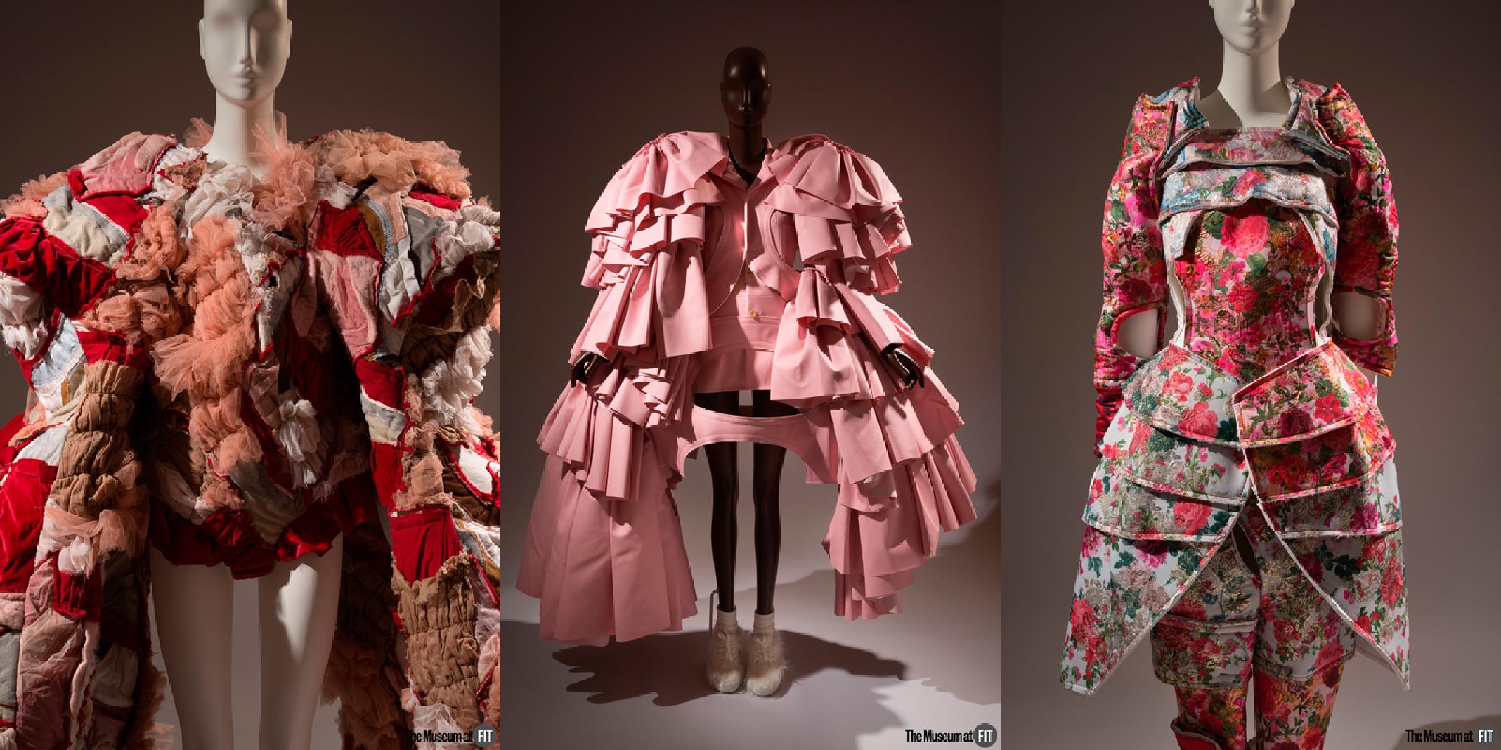 "Comme des Garçons ensemble  Fall 2016, ""18th-Century Punk"" Collection, fall/winter 2016, Japan, museum purchase.  ""18th-Century Punk"" Collection, Fall/Winter 2016, Japan, museum purchase.  Spring 2018, Japan, museum purchase."