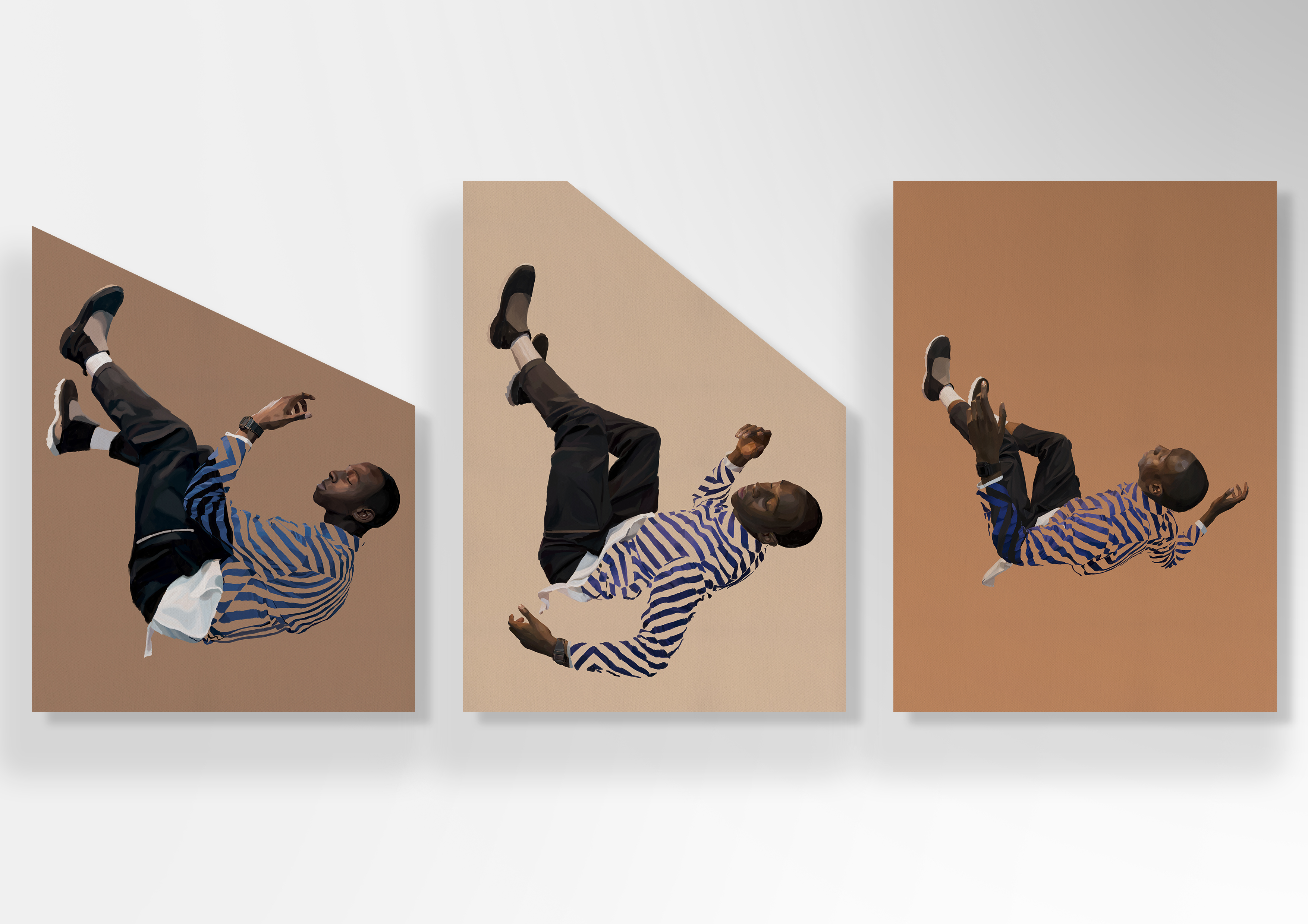 """""""Décomposition d'une chute"""" de Johanna Tordjman, exposée à la galerie Sébastien Adrien, jusqu'au 30 juin. Courtesy Galerie Sébastien Adrien."""
