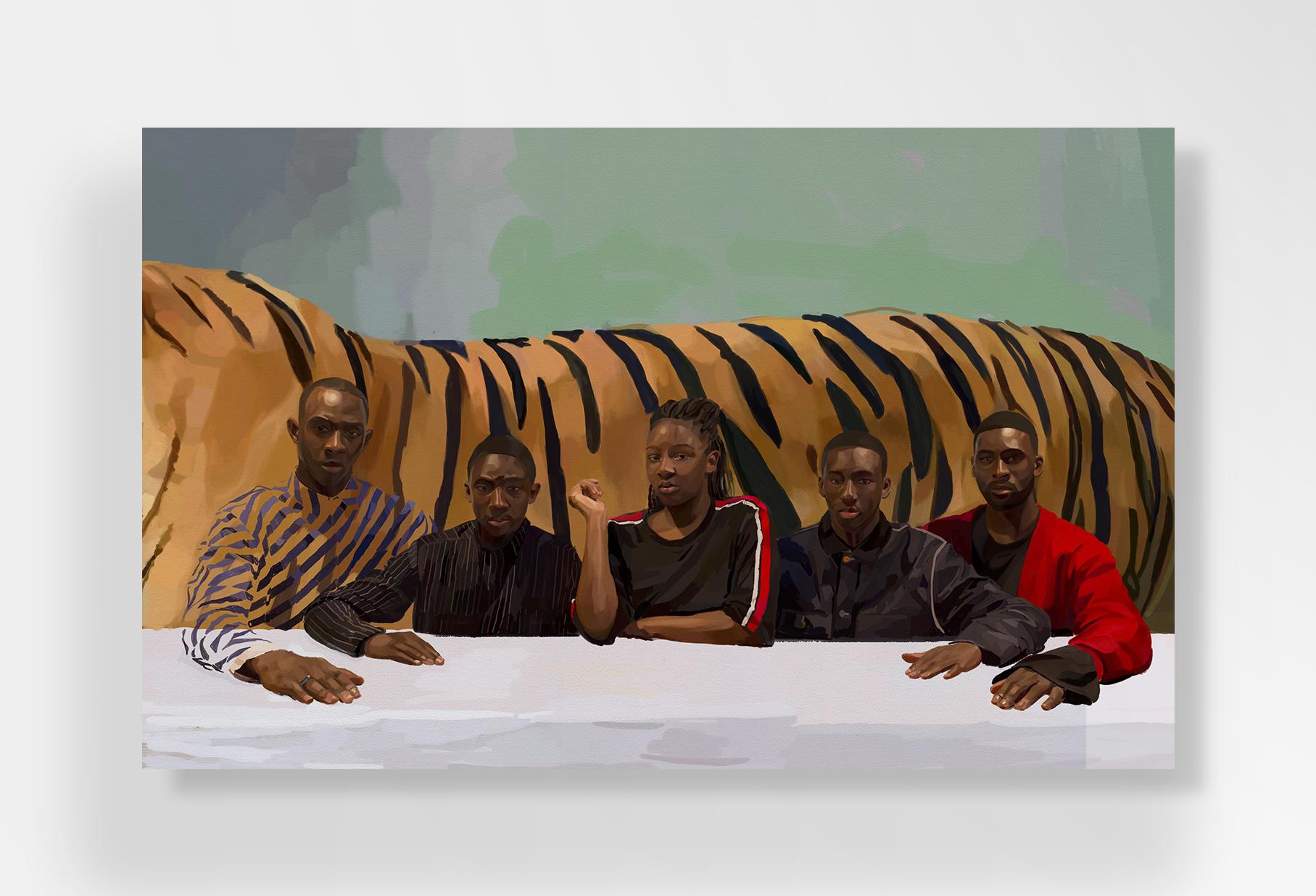 """""""La fratrie n'est jamais finie"""" de Johanna Tordjman, exposée à la galerie Sébastien Adrien, jusqu'au 30 juin. Courtesy Galerie Sébastien Adrien."""