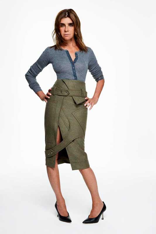 La jupe de Carine Roitfeld, styliste et consultante.