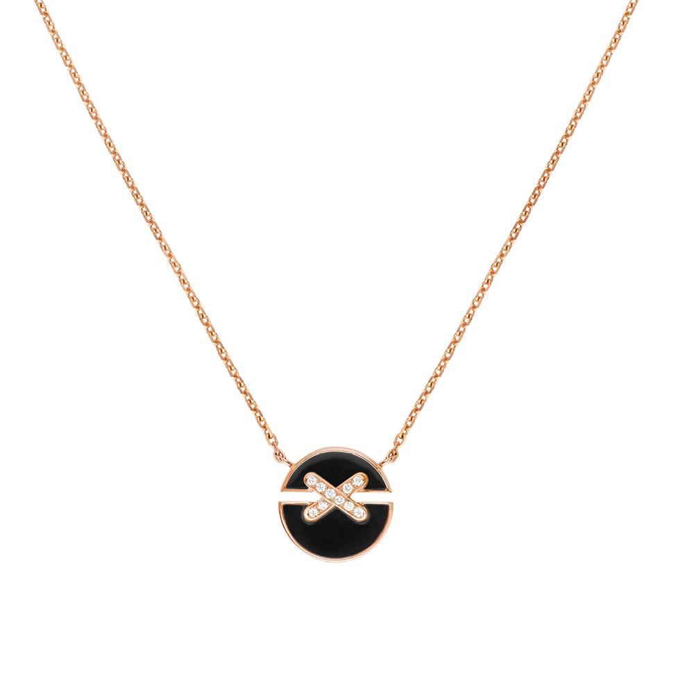 Médailles Jeux de Liens Harmony en or et onyx, CHAUMET