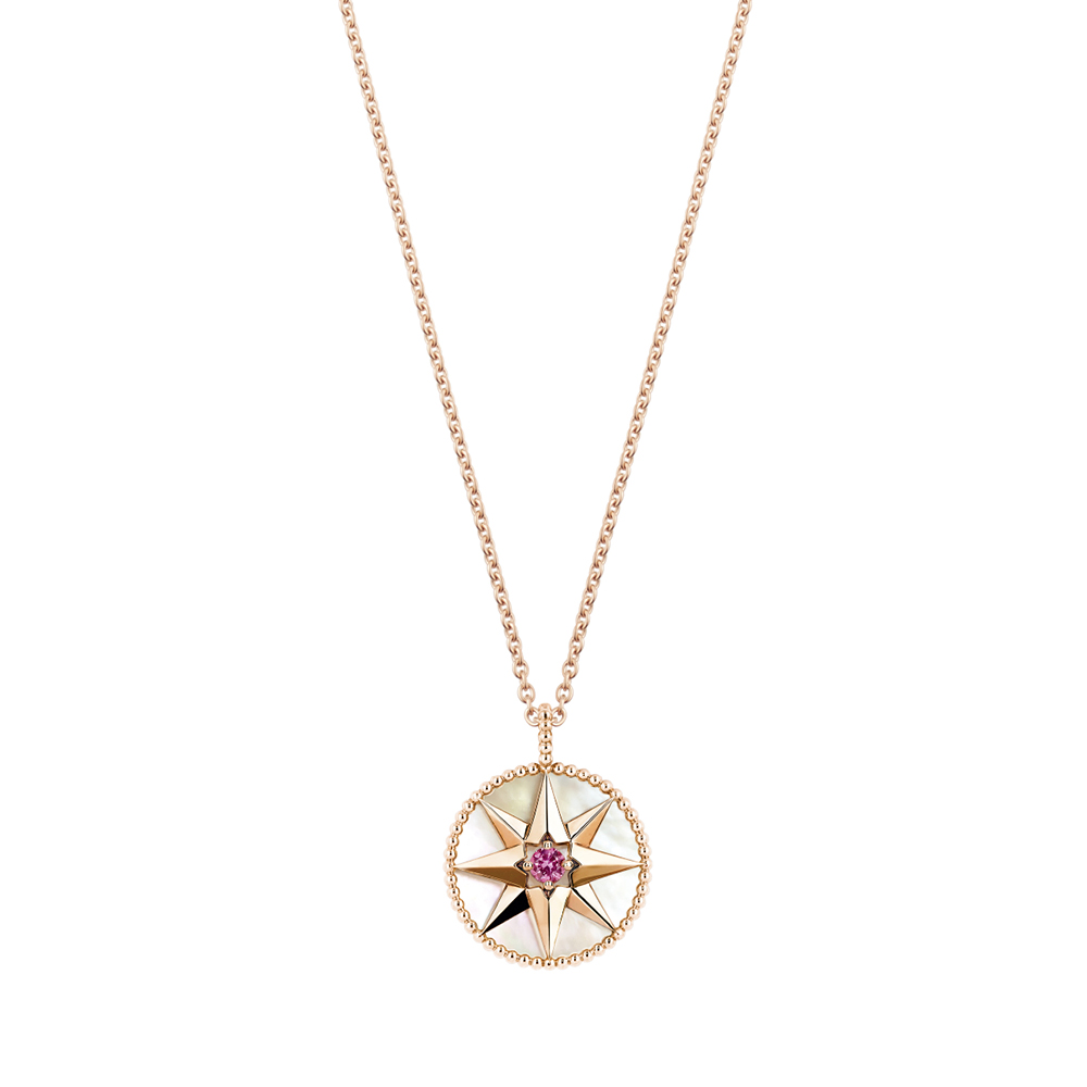 Collier Rose des Vents, or rose 750/1000e, diamant et opale rose, DIOR JOAILLERIE