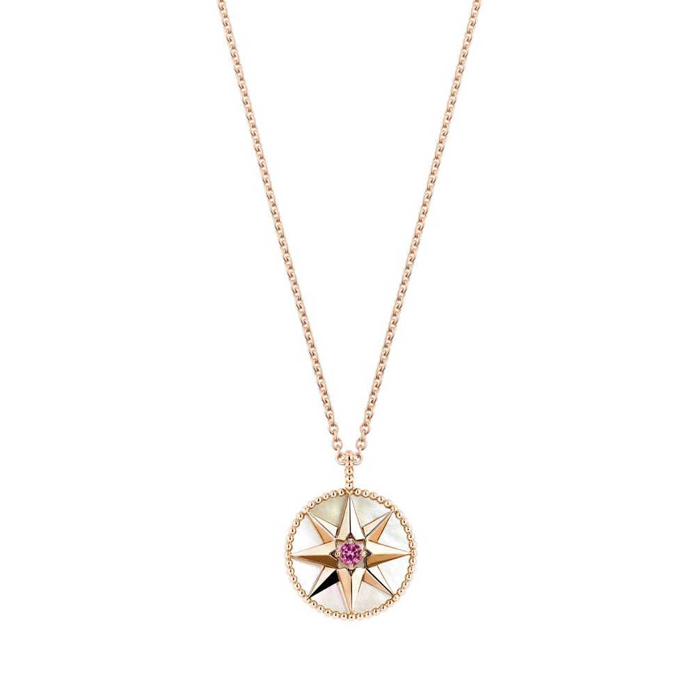 Collier Rose des Vents, or rose 750/1000e, diamant et opale rose, DIOR JOAILLERIE
