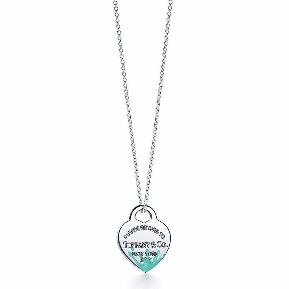 Charm plaque Cœur Color Splash, TIFFANY & CO