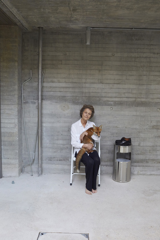 Charlotte Rampling, a Fox, and a Plate No.15, Latimer Road, London 2016