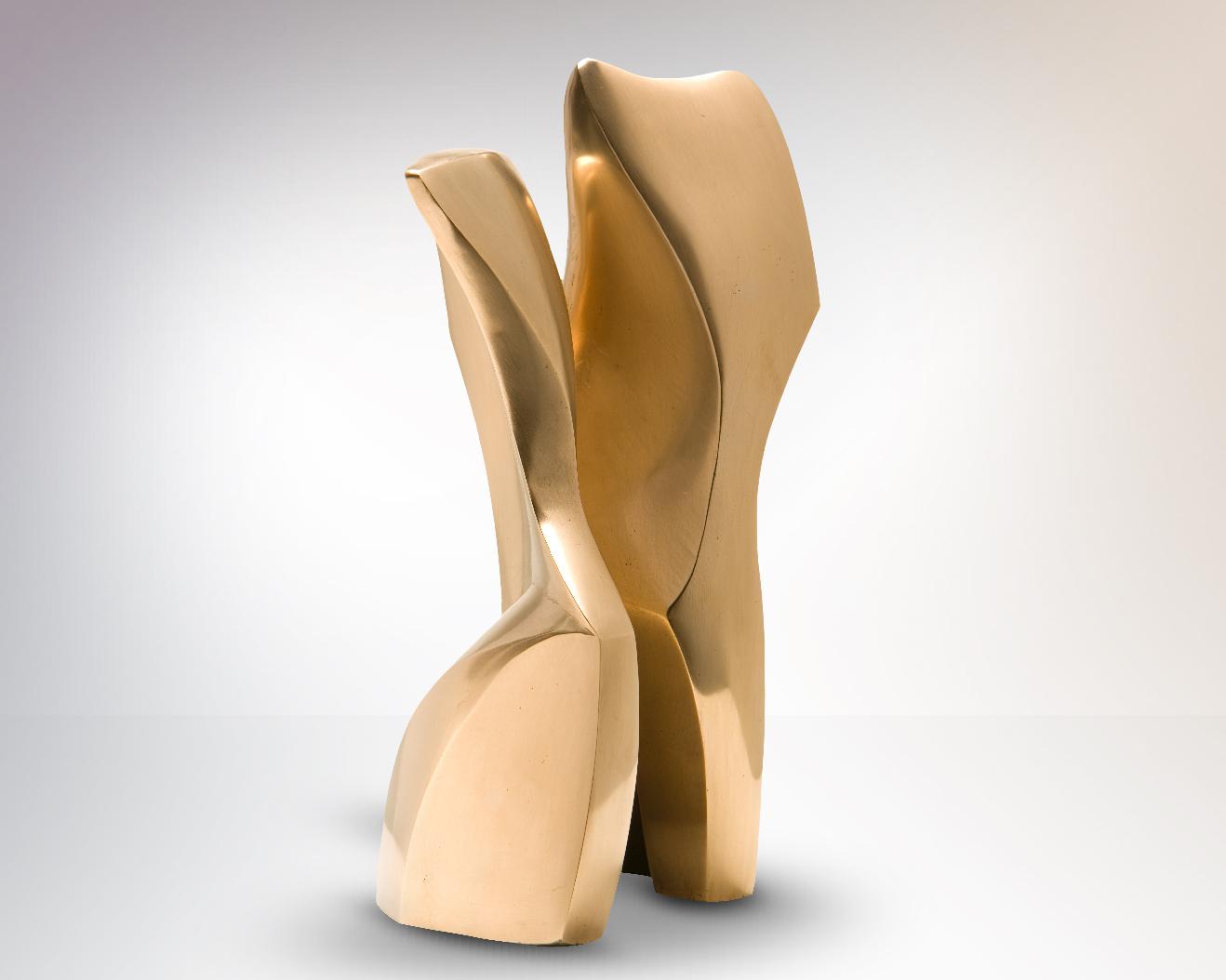 Danza, sculpture en bronze poli, 28 x 13 x 10 cm