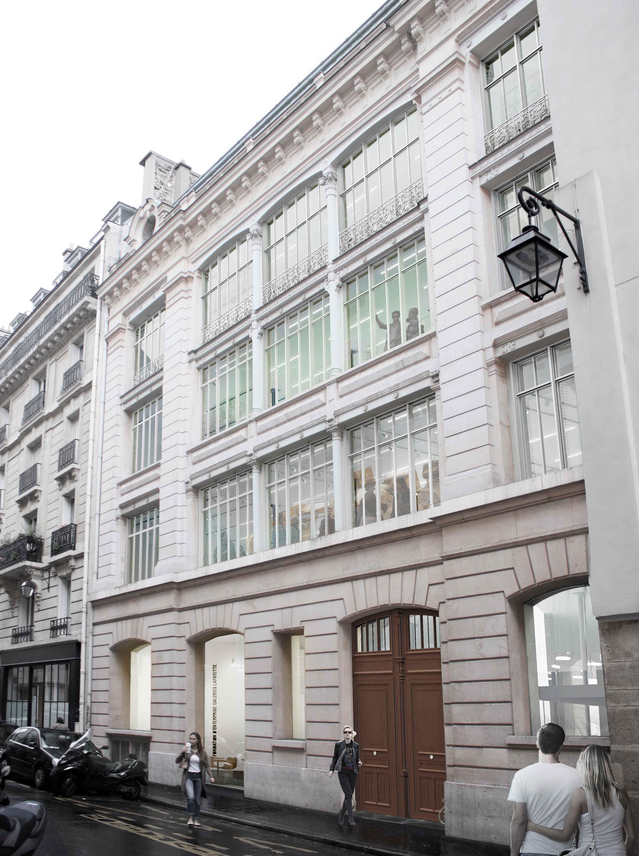 Façade de Lafayette Anticipations, Fondation d'entreprise Galeries Lafayette au 9 rue du Plâtre, 75004 Paris. Copyright : OMA / Fondation d'entreprise Galeries Lafayette