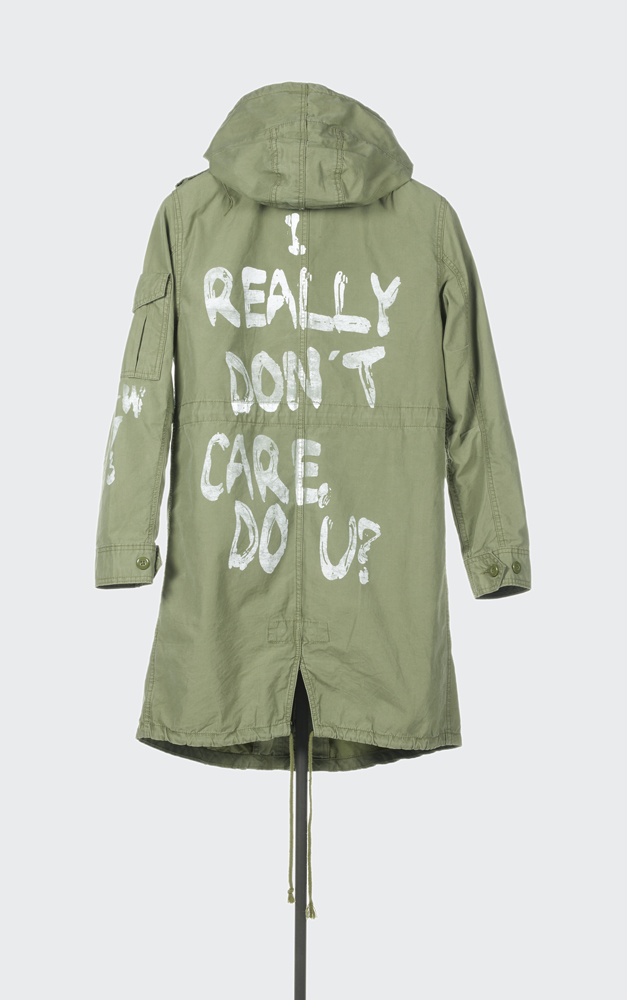 Zara, I really don't care, do u ?, Parka, Printemps-Eté 2016. © Aurélie Dupuis/ Azentis.
