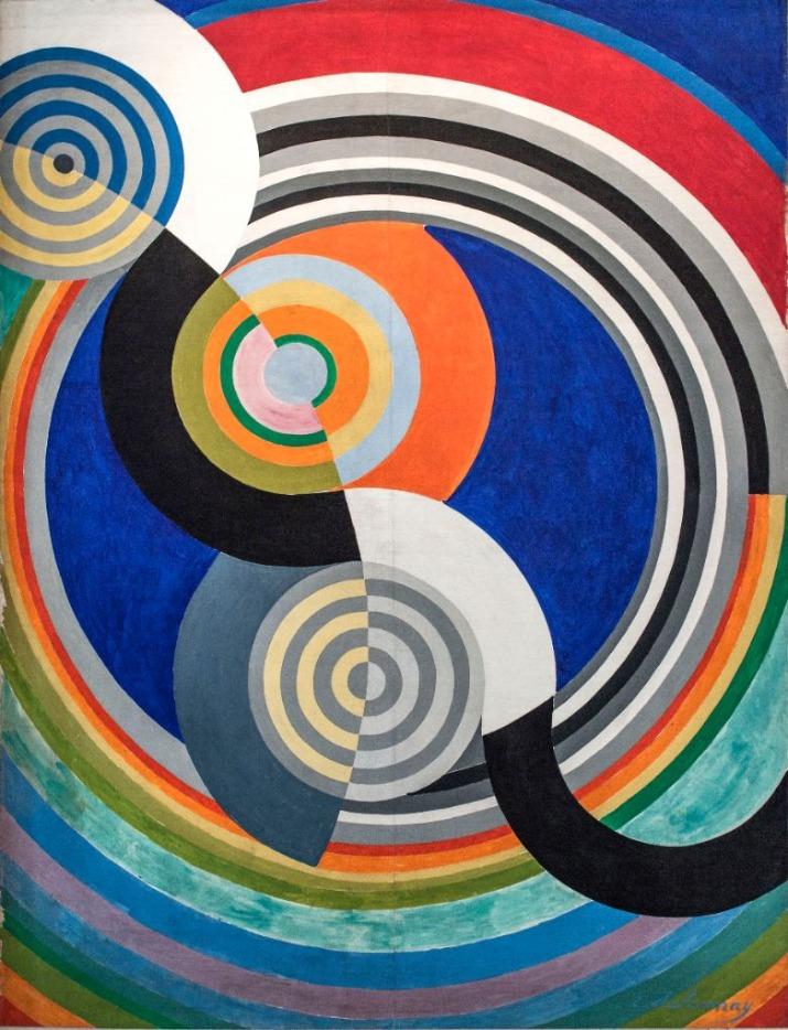 """Robert Delaunay, (1885-1941), """" Rythme n°2"""", décoration pour le Salon des Tuileries (1938). Peinture à l'huile, Musée d'Art moderne de la Ville de Paris"""