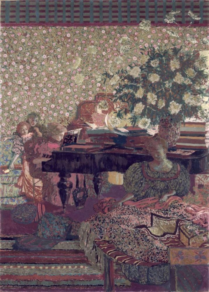 """Edouard Vuillard, """"Personnages dans un intérieur. La musique"""" (1896). Petit Palais, musée des Beaux-arts de la Ville de Paris"""
