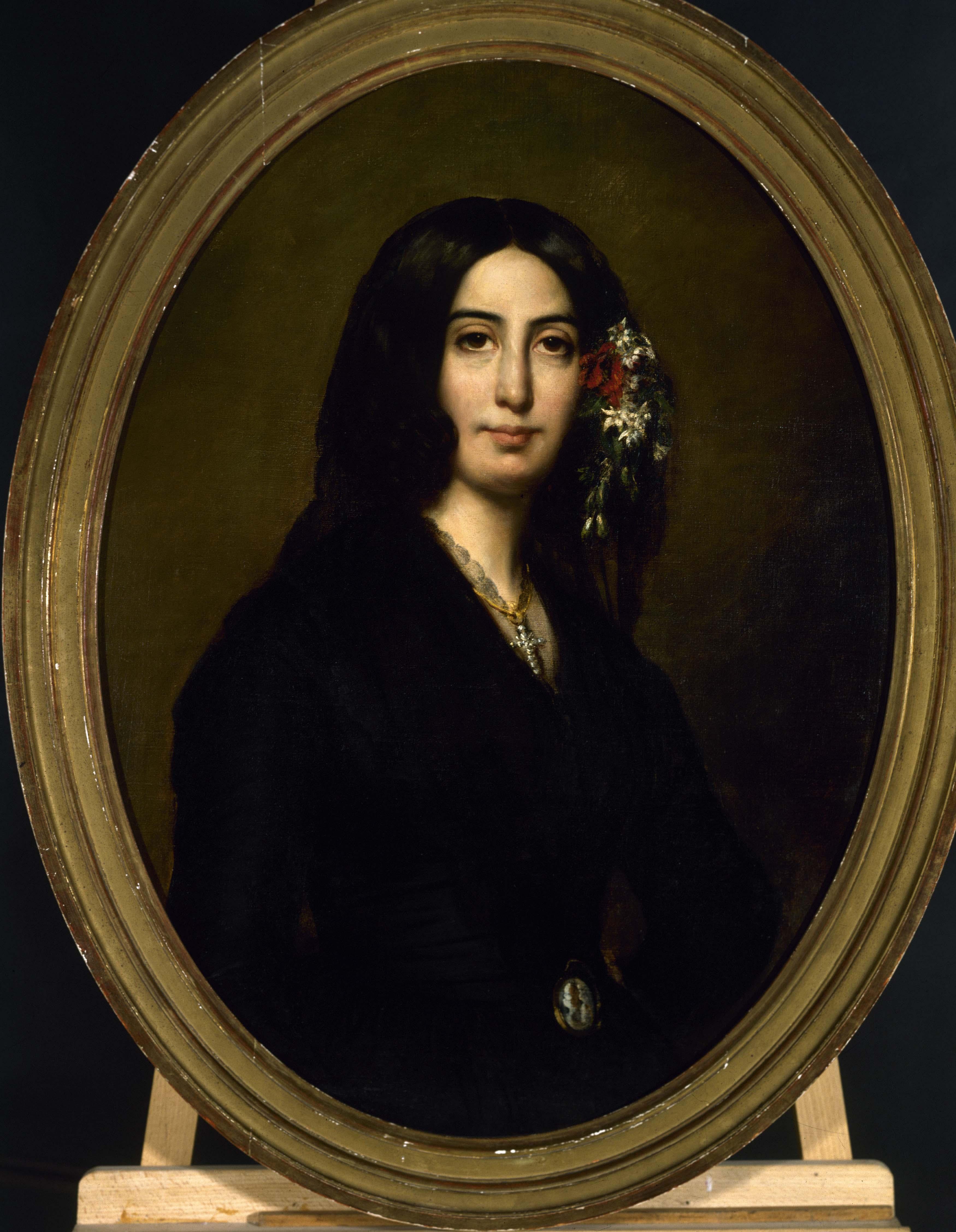"""Auguste Charpentier, """"Portrait de George Sand"""" (entre 1837 et 1839). Musée de la Vie romantique."""