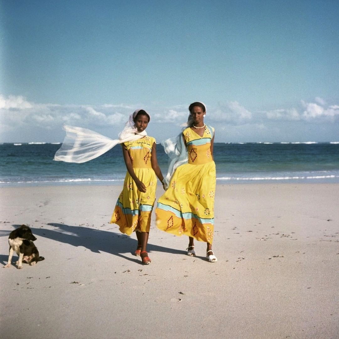 "Todd Webb, ""Women on the Beach"", Somalia (1958). Archival Pigment Print, 12x12''. Todd Webb Archive"
