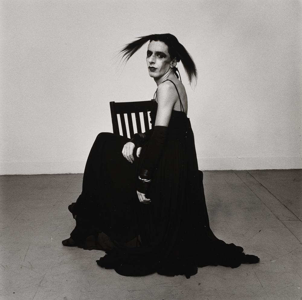 "Peter Hujar, ""John Heys in Lana Turner's Gown (III)"" (1979). © The Peter Hujar Archive"