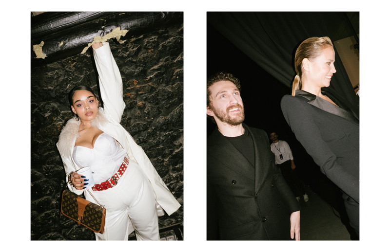 David Koma aux backstages du défilé Mugler automne-hiver 2017-2018.