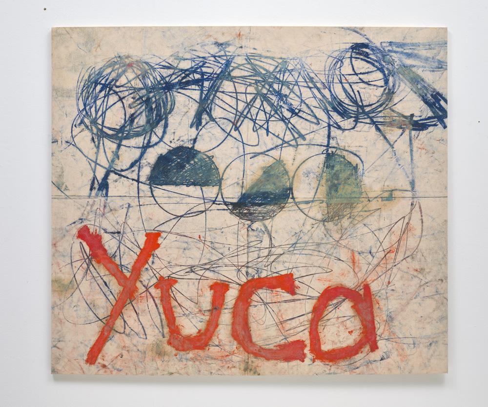 "Oscar Murillo, ""Untitled (Yuca)"" (2011). Oil, oil stick and dirt on canvas, 149.3 x 170.5 cm. Estimate £70,000-90,000"