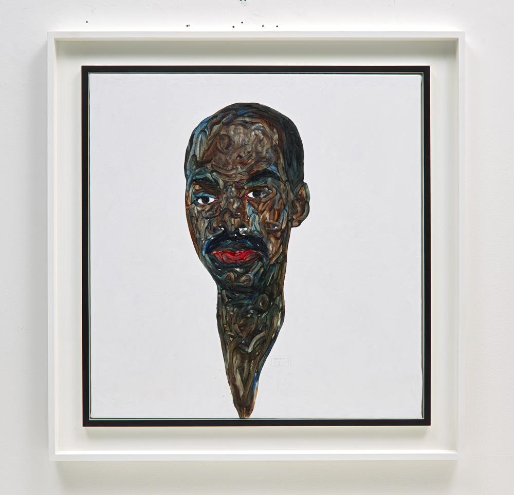 """Amoako Boafo, """"Untitled"""" (2019). Oil on canvas, 103 x 100 cm. Estimate £20,000-30,000"""