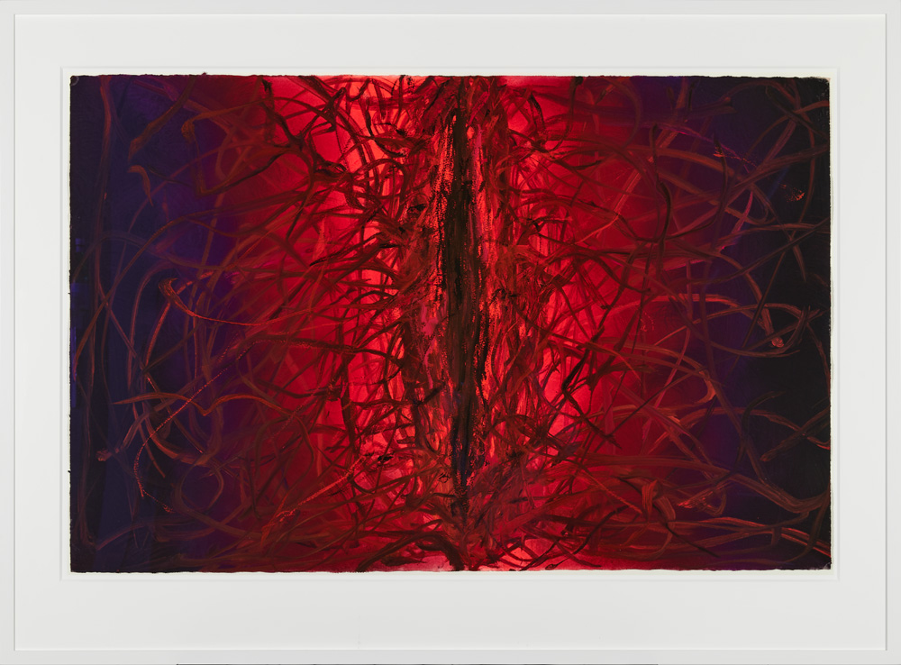 """Anish Kapoor, """"Untitled"""" (2008). Gouache and acrylic on paper, 66.7 x 101 cm"""