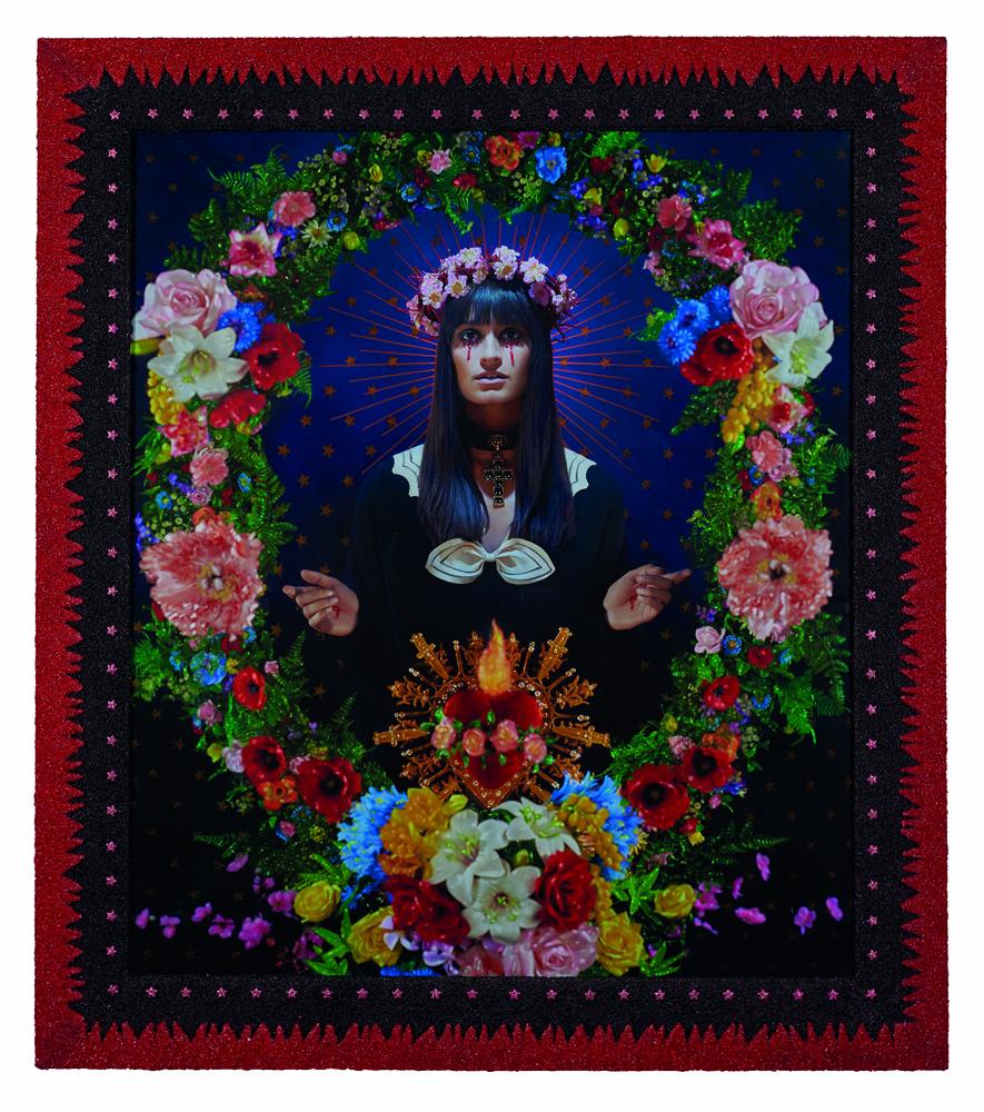 """Pierre et Gilles, """"La Madone aux fleurs (Clara Luciani)"""", 2019"""