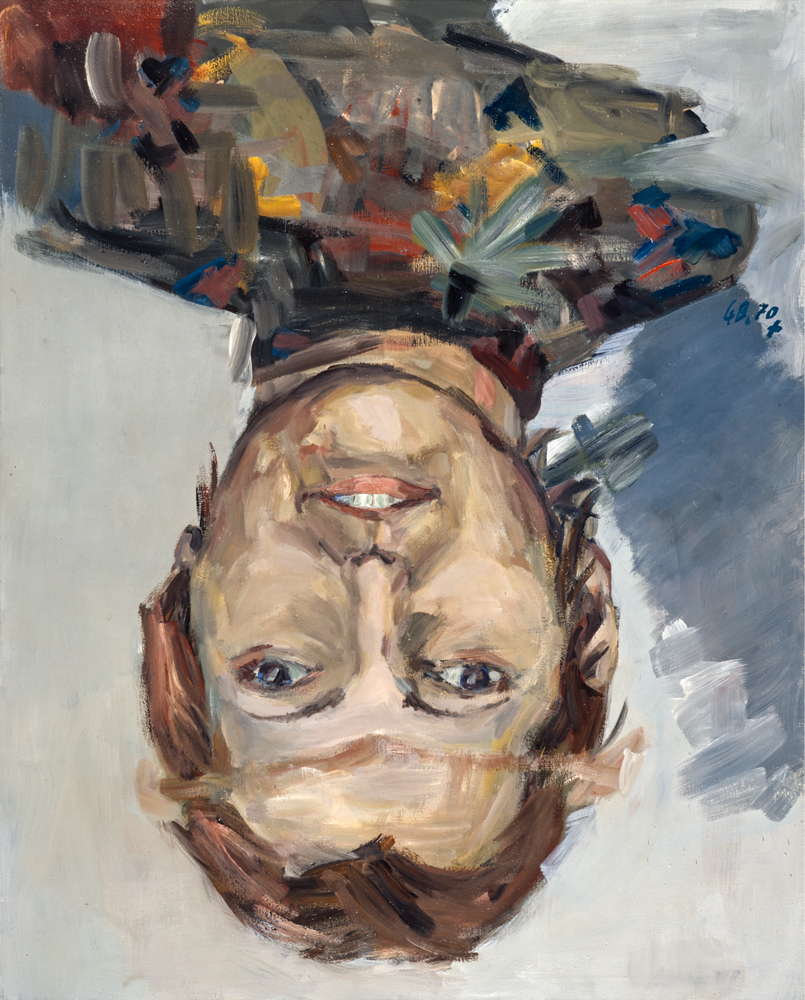 Porträt-Thordis-Möller-(Portrait-of-Thordis-Möller), 1970. Georg Baselitz