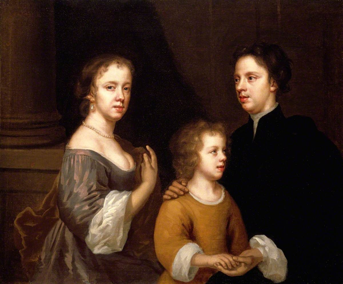 Mary Beale, Self-portrait of Mary Beale with her husband Charles and son Bartholomew, c.1660 © Geffrye Museum, Londres