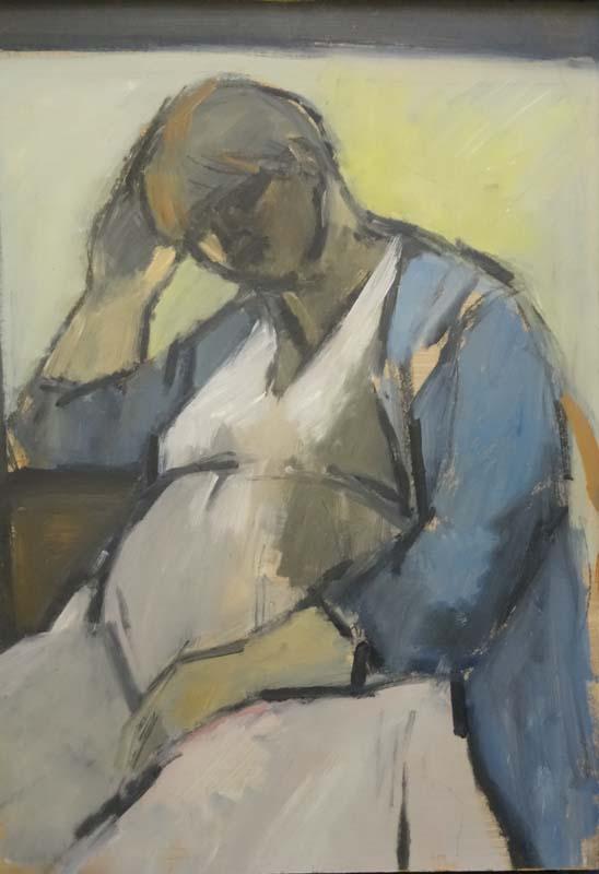 Ghislaine Howard, Self Portrait Pregnant, 1984 © Ghislaine Howard