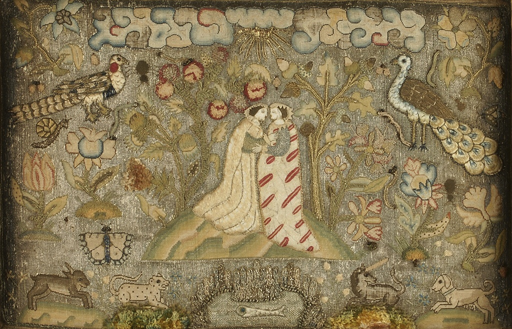 Textile Panel with Embracing Figures c.1600 © Ashmolean Museum, University of Oxford