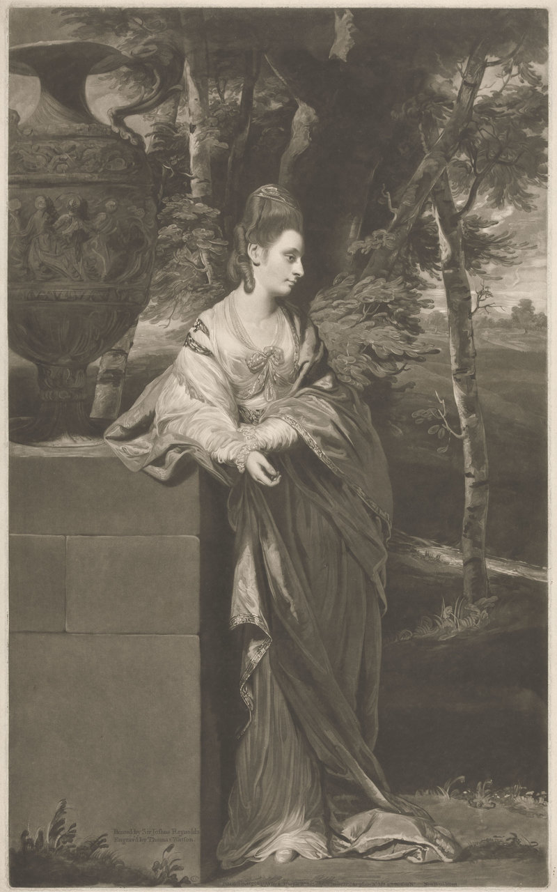 Thomas Watson, after Joshua Reynolds, The Honourable Mrs Parker, 1773 © Yale Center for British Art, Paul Mellon Collection