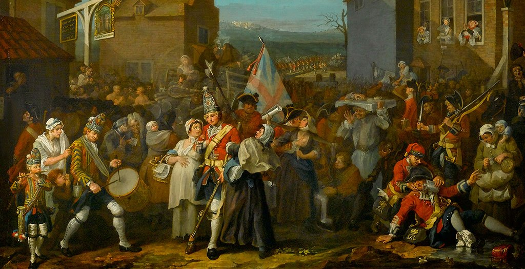 William Hogarth, detail The March of the Guards to Finchley, 1750 © The Foundling Museum