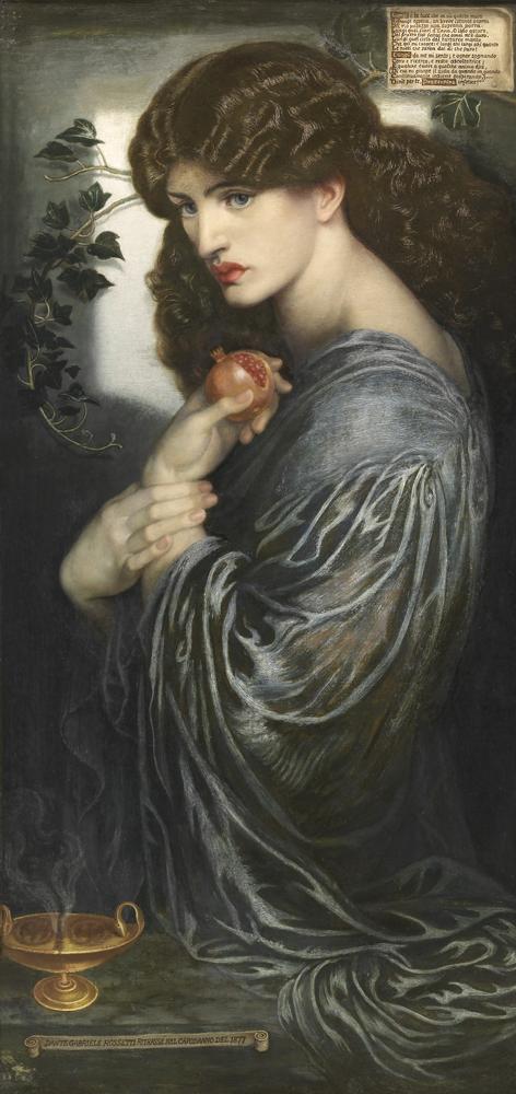 """""""Proserpine"""" par Dante Gabriel Rossetti."""