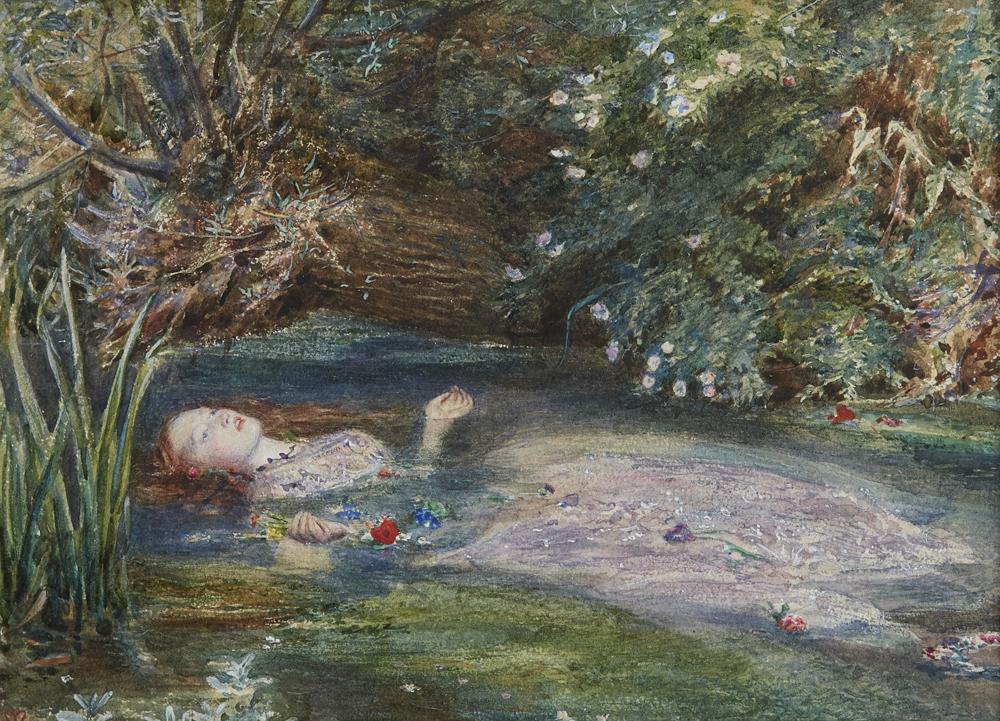 """Ophelia"" par Dante Gabriel Rossetti"