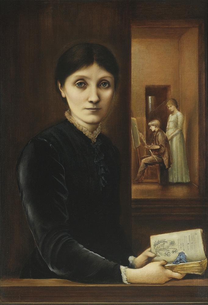 """""""Georgiana Burne Jones avec Philip et Margaret"""" par Edward Burne Jones."""
