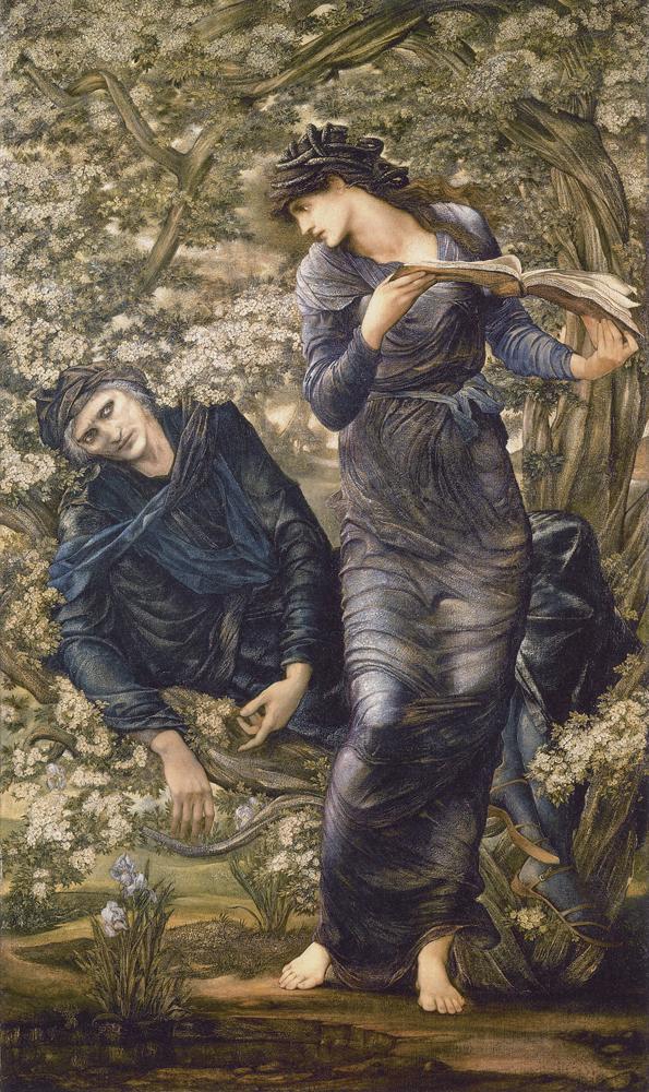 """""""The Beguiling of Merlin"""" par Edward Burne Jones."""