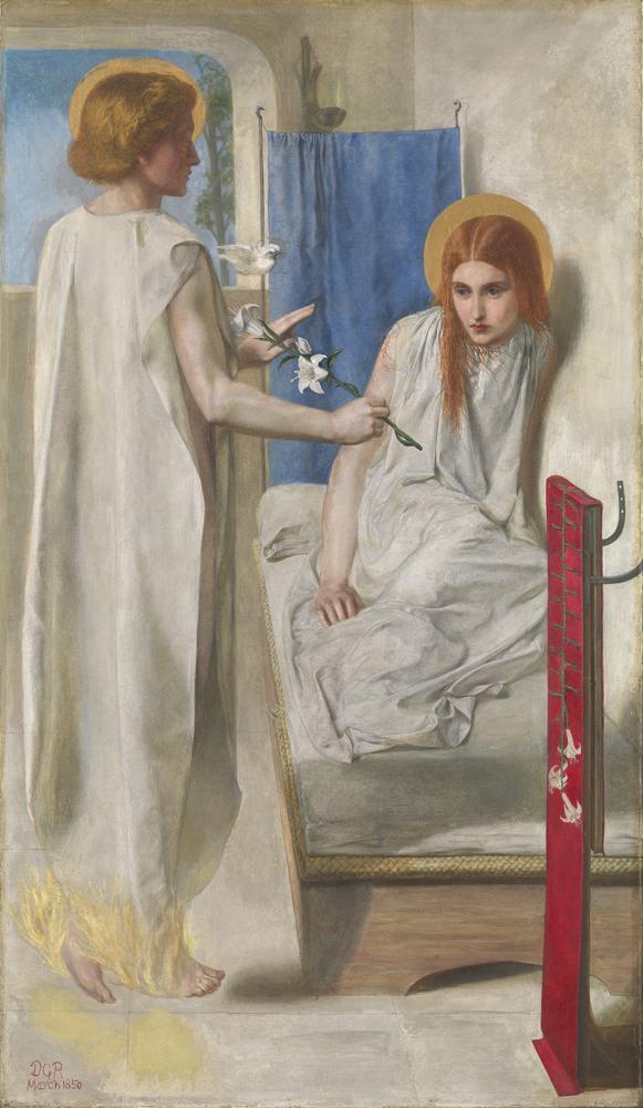 """""""Ecce Ancilla Domini """" par Dante Gabriel Rossetti"""