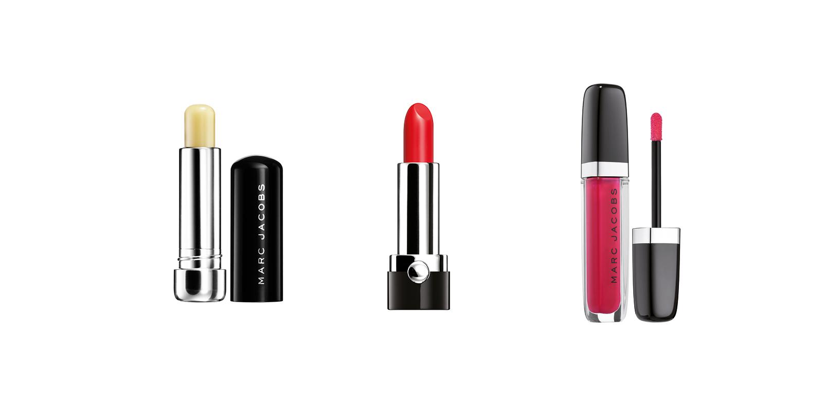Baume hydratant lip lock - Rouge à lèvres crème Le Marc en dashing 206 - Laque lèvres ultra brillante enamored en teinte 332 hot hot hot