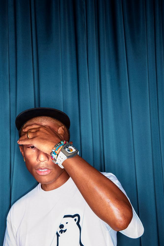 Pharrell Williams photographié par Robert Jaso.