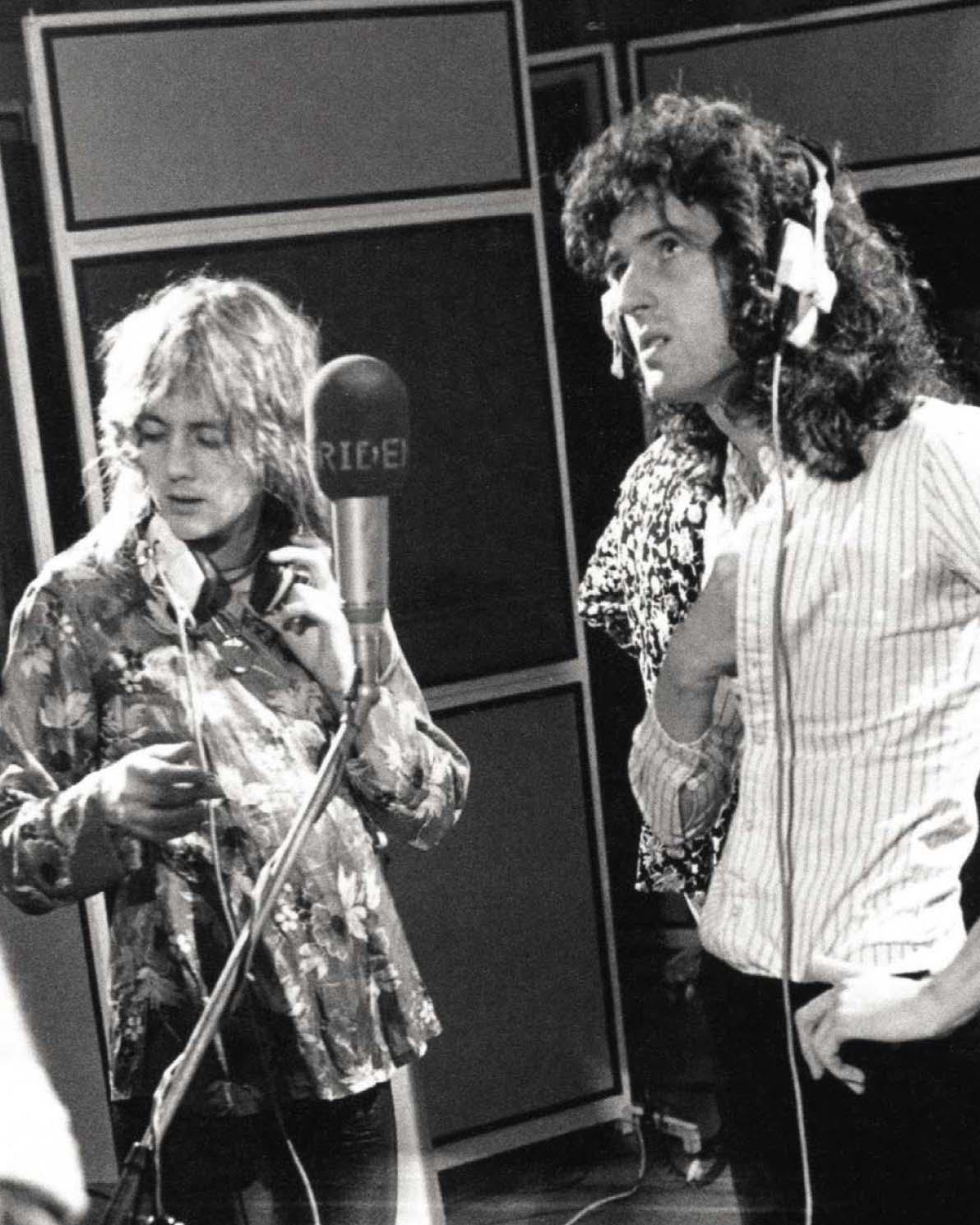 """Aux studios Trident lors des sessions d'enregistrement de l'album """"Sheer Heart Attack"""". EMI/Hollywood Records/Dr."""