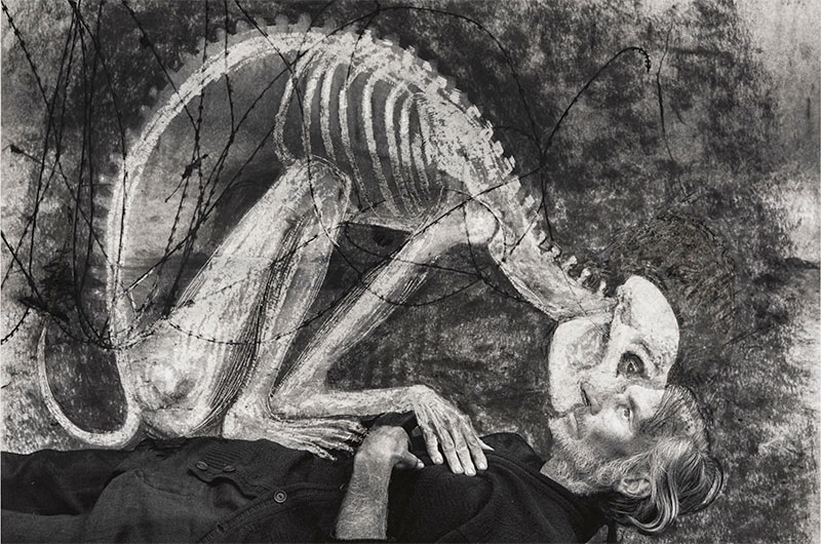 "Roger Ballen et Hans Lemmen, ""Rendez-vous 3"", 2018, mixed media. Courtesy ARTCO Gallery"