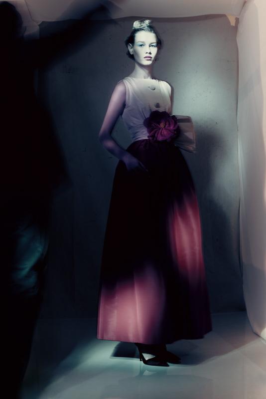 Robe Monaco Collection Haute Couture printemps-été 1959 Ligne Longue par Yves Saint Laurent