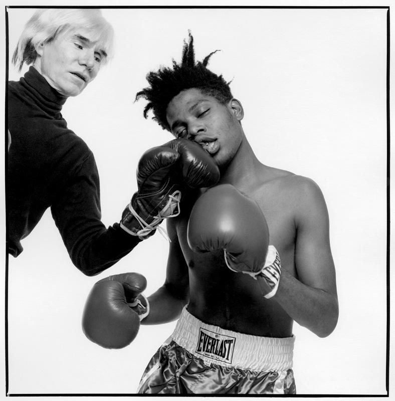 Andy Warhol et Jean-Michel Basquiat par Michael Halsband