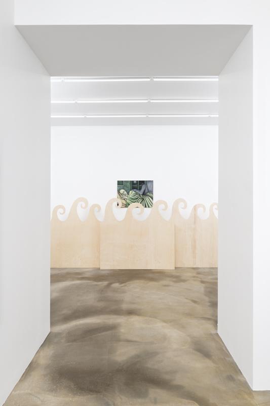 """Vue de l'exposition """"La tumeur bénigne"""" de Tanja Nis-Hansen, novembre à décembre 2019 chez Sans titre (2016)."""