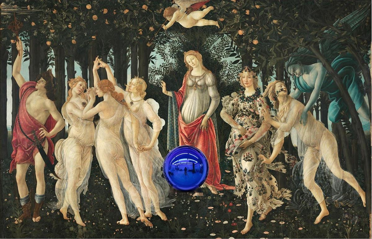 "David Zwirner : Jeff Koons, ""Gazing Ball (Botticelli Primavera)"" (2017 - 2020). Art Basel Hong Kong Online Viewing Room"