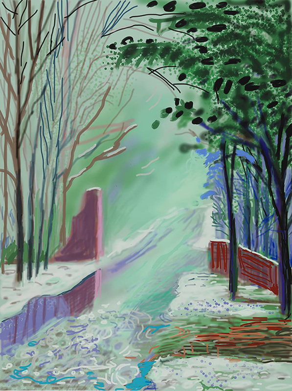"Annely Juda Fine Art : David Hockney, ""The Arrival of Spring in Woldgate, East Yorkshire in 2011 (twenty eleven)"" (3 January, 2011). Art Basel Hong Kong Online Viewing Room"