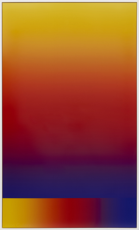 "Lisson Gallery : Cory Arcangel, ""Photoshop CS: 84 by 50 inches, 300 DPI, RGB, square pixels, default gradient"