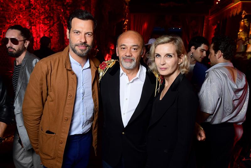 Laurent Lafitte, Christian Louboutin et Mélita Toscan du Plantier
