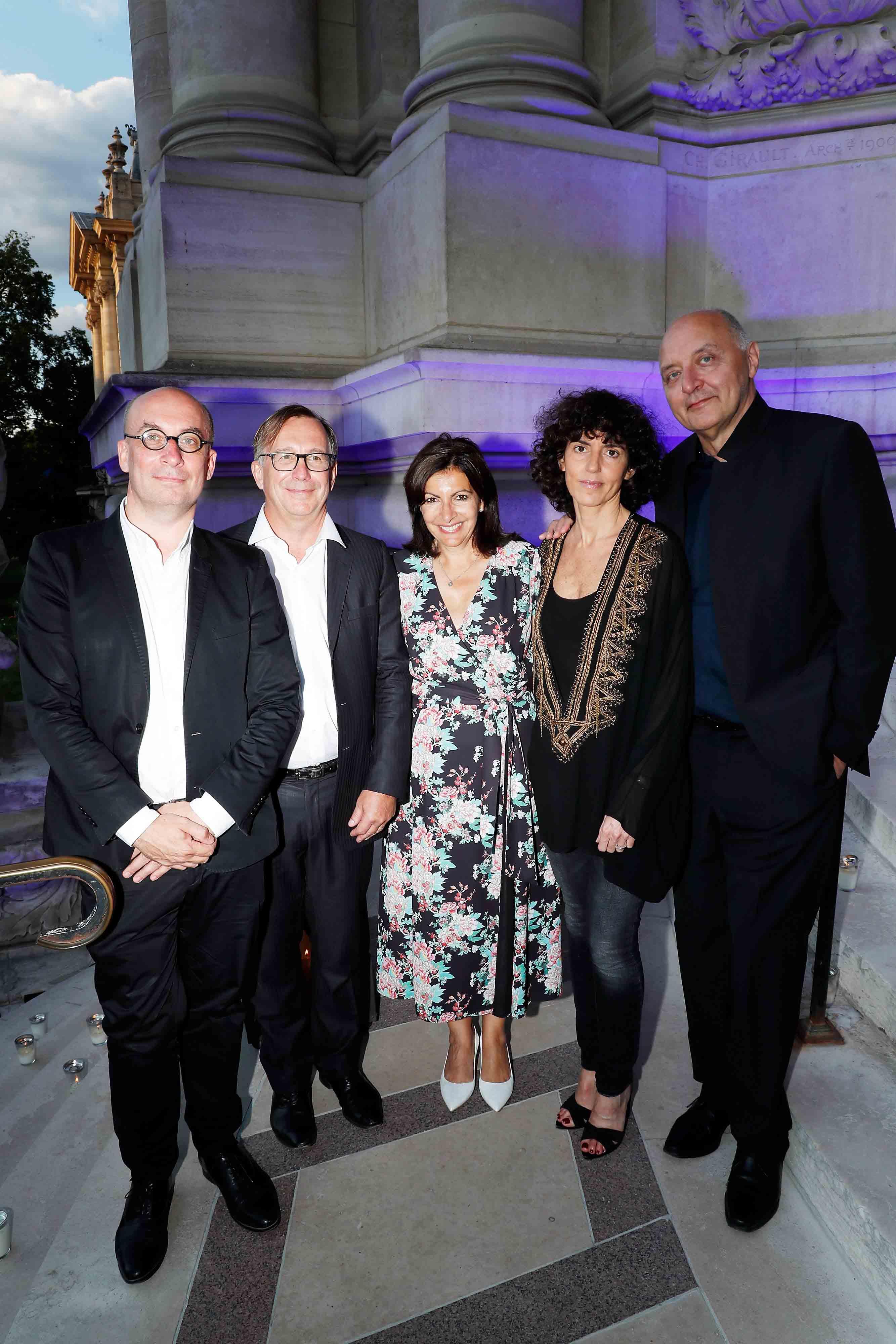 Bruno Pavlosky, Anne Hidalgo, Francesca Bellettini et Pascal Morand