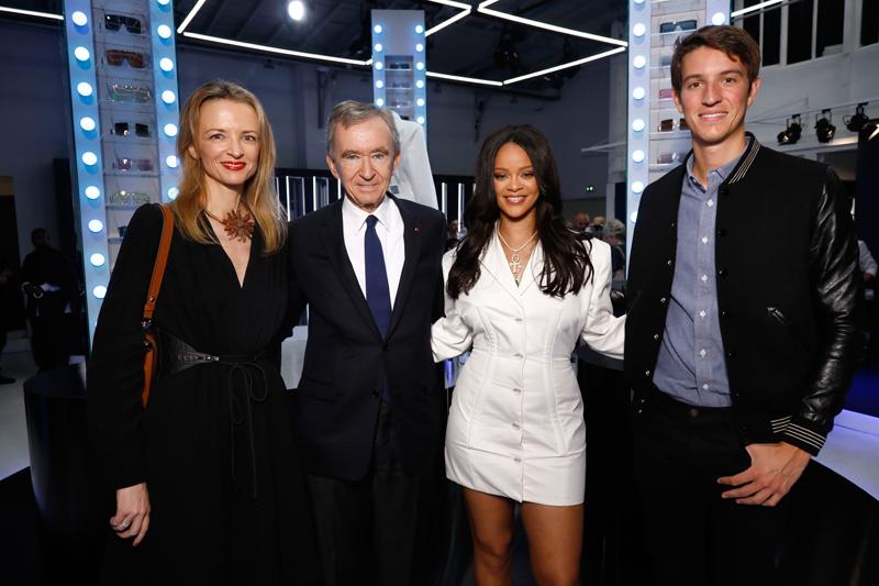 Delphine Arnault, Bernard Arnault, Rihanna et Alexandre Arnault