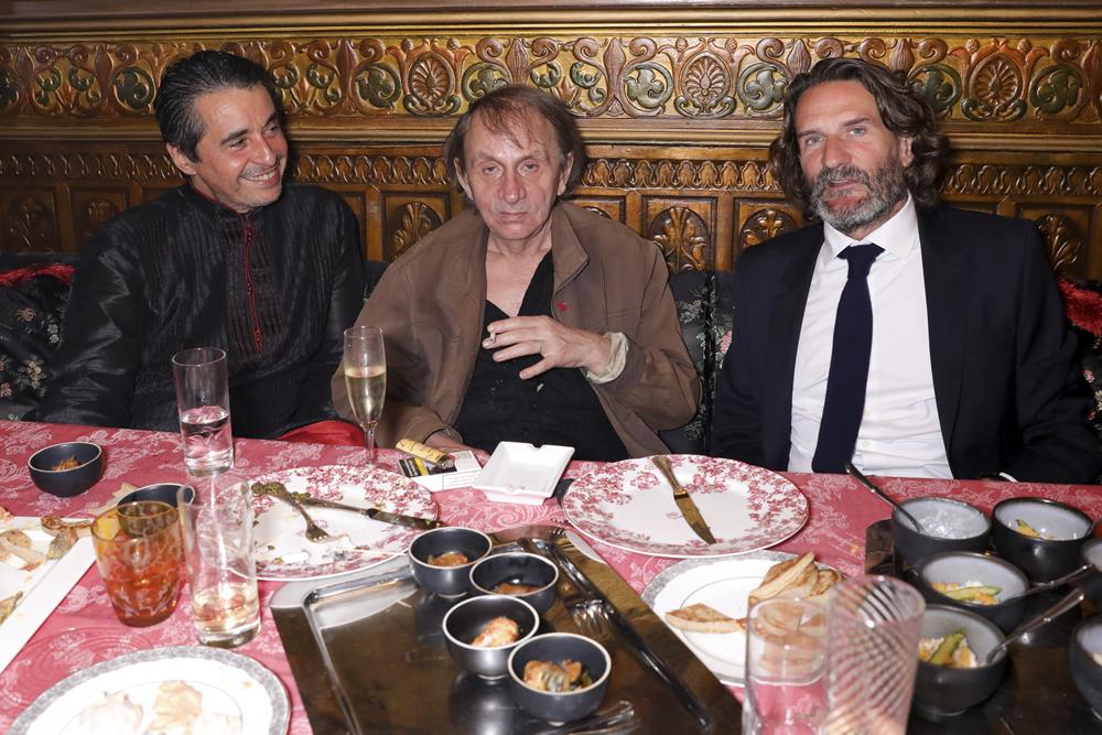 Ariel Wizman, Michel Houellebecq, Frédéric Beigbeder © François Goize.