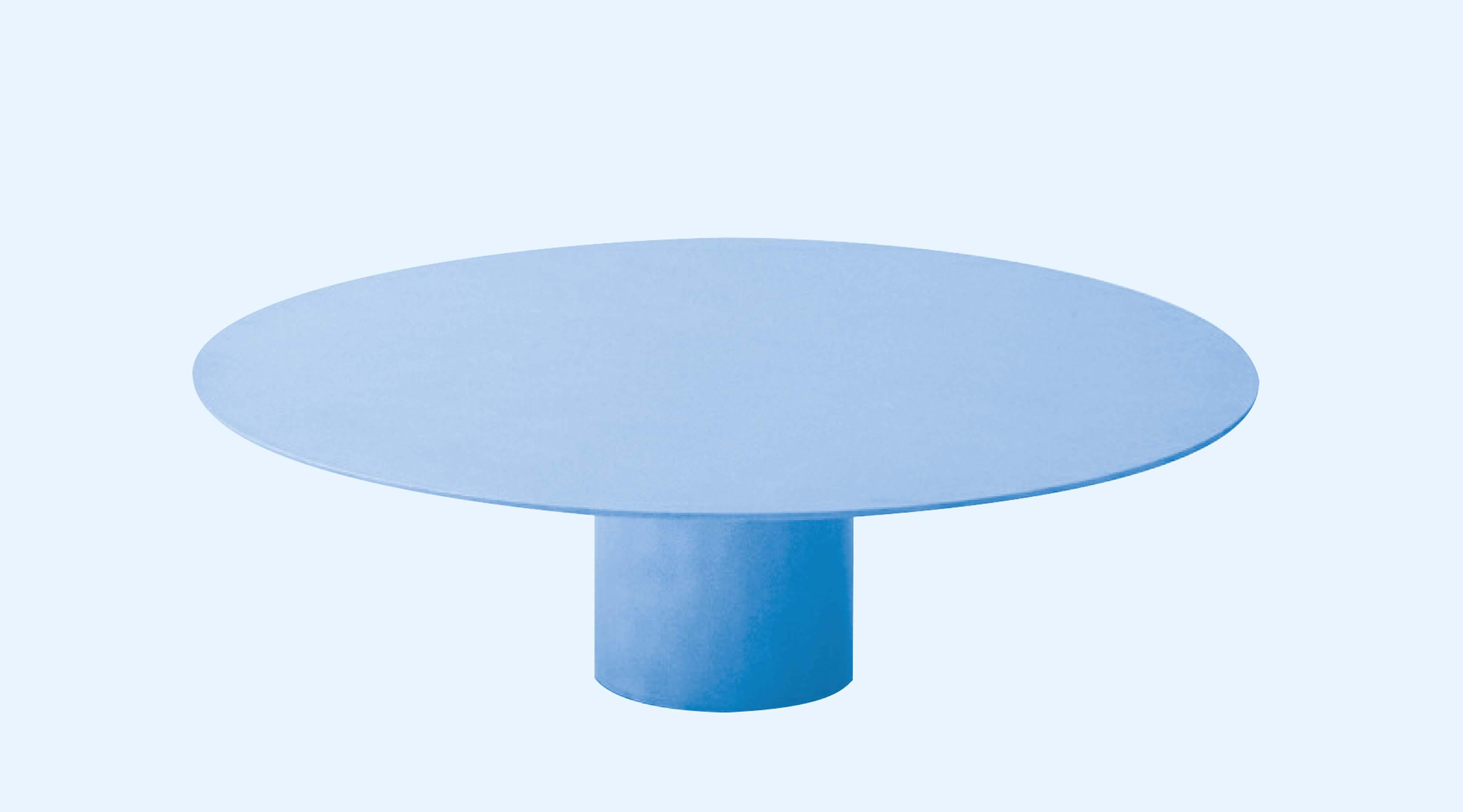 """Solaris de Martin Szekely (2007). Table basse en acier, finition """"bianco"""", édition numérotée, signée et limitée à 8 ex. + 2 AP + 2 prot. Éditée par la Galerie kreo"""