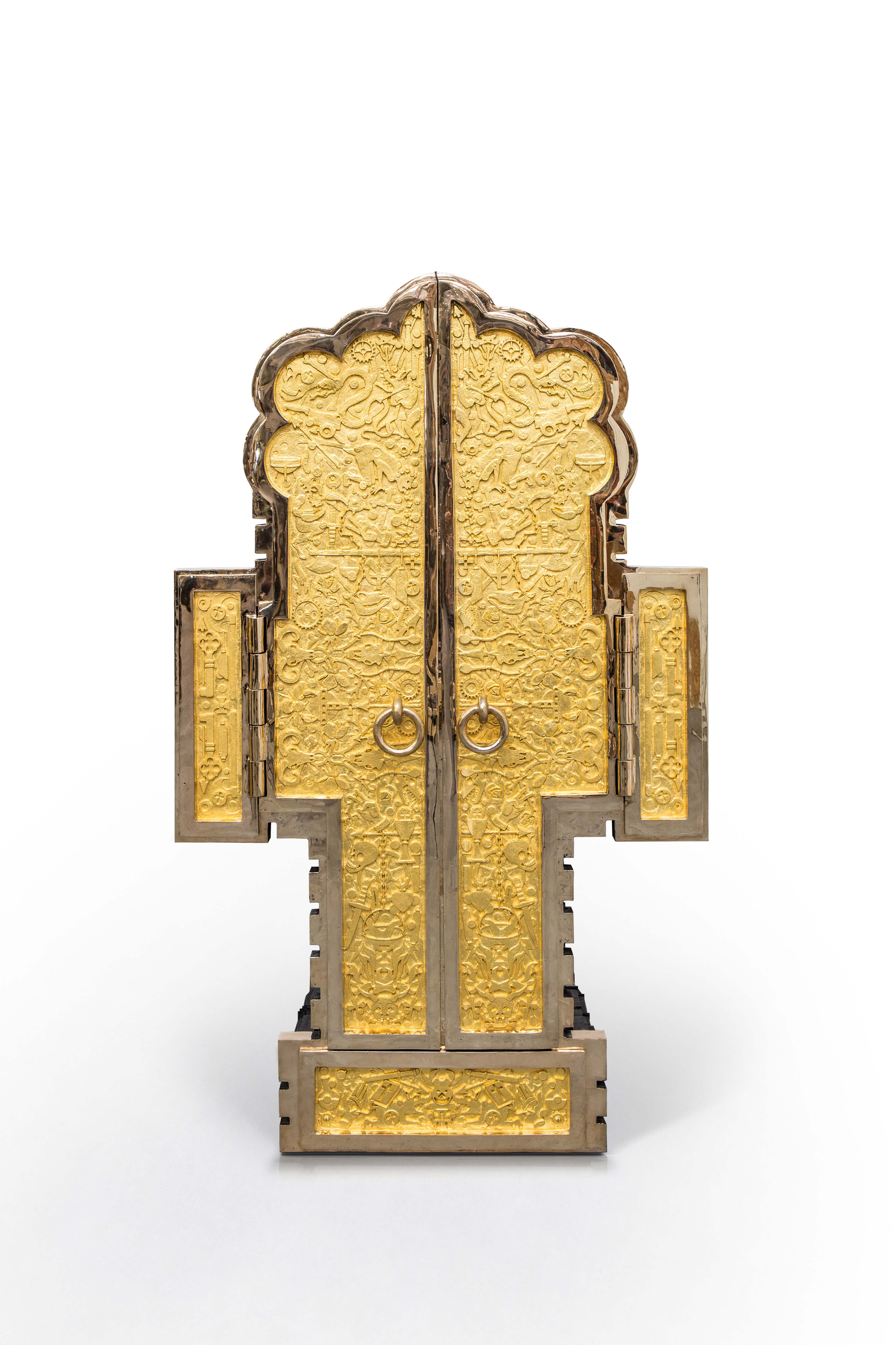 CHARTRES 2009 - 2012 POLISHED AND PATINATED BRONZE, 24K GOLD LEAF H170 L155 W102 CM / H66.9 L61 W40.2 IN LIMITED EDITION OF 5 + 2 AP